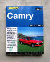 TOYOTA CAMRY 1987-89 Auto Owners Workshop Service Repair Manual SV20 CSX ULTIMA