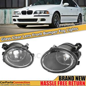 Replacement Fog Lamp Clear Lens Pair For BMW E46 M3 01-06 E39 M5 00-03 Fog Light
