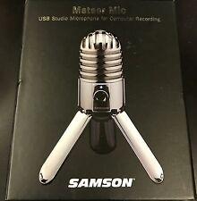 Samson Meteor Large Diaphragm Professional USB Studio Microphone - Silver NEW