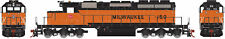 Athearn HO Scale EMD SD40-2 Diesel Locomotive Milwaukee Road/MILW #159