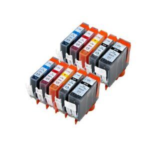 10 Ink Cartridges for Canon Pixma Printer iP4800 iP4850 IP4950 pgi-525, cli-526