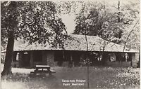 Ohio Real Photo RPPC Postcard FORT ANCIENT Native American Indian SHELTER HOUSE