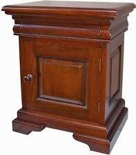 Mahogany French Louis Philippe Sleigh 1 Drawer Bedside Table Cabinet Bs041