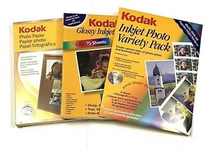 LOT OF 3 - KODAK INKJET PHOTO PAPER - 8.5x11 GLOSSY - 200+ SHEETS - BRAND NEW