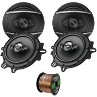 """4 x Pioneer TSA1680F 6.5"""" 4 Way 350 Watts Max Speakers, Speaker Wire"""