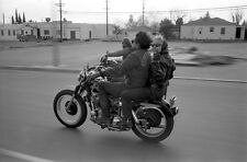 Hells Angels Motorcycle Gang 1960's Peace Sign 8.5x11 Photo