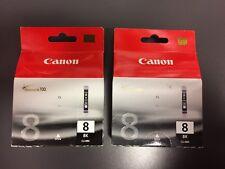 Cartucce Originali Canon CLI8BK Black Nero Nuove Lotto 2 Cartucce Canon Pixma