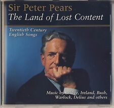 Peter Pears: Land of Lost Content: 20th-Century English Songs (BELART) Like New