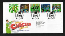 GB 2002 FDC Europa Circo, clowne Chesterfield TIMBRO TIMBRI