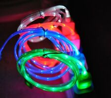iPhone 4 4S Nano 4 5 6 iPod Classic Visible LED Light Flowing Micro USB Cable