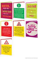 Brainbox Candy Sister Sis Birthday greeting cards funny rude cheeky naughty joke