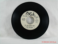 TED TAYLOR-(45)-RADIO STATION COPY  STAY AWAY FROM MY BABY / (--) - OKEH  - 1965