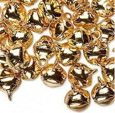 Jingle Bells Gold Jewelry Christmas Charm Holiday Craft Kids 10mm Lot of 100