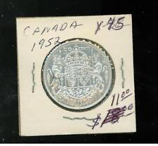 1952 Canada 50 Cents Silver Coin # Y 45