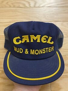 Vtg Mud And Monster Camel Pit Crew Hat Trucker Made In USA Snapback