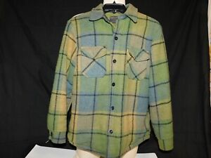 Vintage flannel lined jacket styled for students by Sears size 18 chest 34