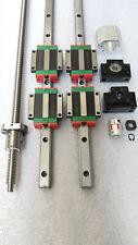 2 set HGR15-1000mm Hiwin-Linear Rail &RM1610-850mm Ballscrew & BK12 Kit