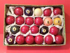 "Vintage Hyatt Vitalite Snooker Balls 2 1/8"" Albany Billiards, Pool"