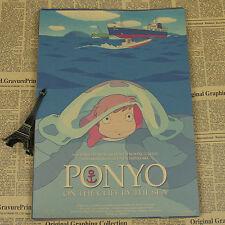 Hayao Miyazaki movie poster (Series 2, Quantity 8) Kraft paper FREE SHIPPING