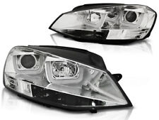 LED U-TYPE FARI ANTERIORI LPVWK5 VW GOLF MK-7 2012 2013 2014 2015 CHROME