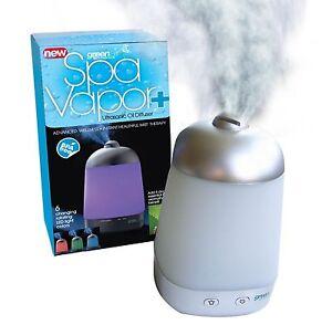 Spa Vapor + Green Air New in Box Aromatherapy Diffuser Plus 5 ml Tea Tree oil