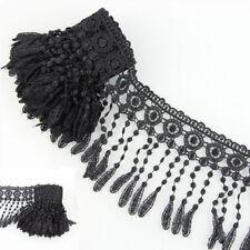 3 Yards Fabric Black Venise Lace Fringe Embellishment Diy Sewing Trims Craft