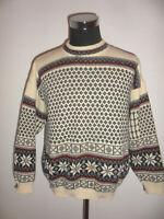 vintage G.Pisano Strickpullover Strickpulli norweger oldschool winter hippie L