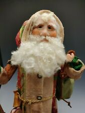 Victorian Quilted Coat Santa Claus Ooak Christmas Doll, One of a Kind