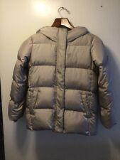 Gap Kids Classic Warmest Down Puffer Coat XL 12 Full Zip Hood Gray