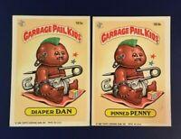 1986 Topps # 183a DIAPER DAN # 183b PINNED PENNY GPK Lot 2 Garbage Pail Kids