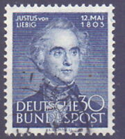 Germany 1953-- The 150th Birth Anniversary of Justus von Liebig--used
