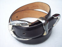 Womens Belt Sz S Black Leather Annabella by Another Line Nordstrom USA Made