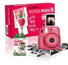 Fuji Instax Mini 8 Instant Camera with 10 Shots Included Raspberry