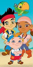 Childrens Disney Jake and The Neverland Pirates Beach Swimming Bath Towel