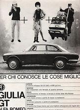 (AM) EPOCA964-PUBBLICITA'/ADVERTISING-1964- ALFA ROMEO GIULIA GT