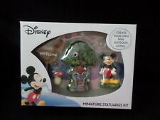 New listing Disney Mickey Mouse Fairy Garden Miniature Statuaries Kit 4 Pc New In Box