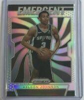 Keldon Johnson *Silver* 'Emergent' rookie 2019-20 Panini Prizm Basketball -Spurs
