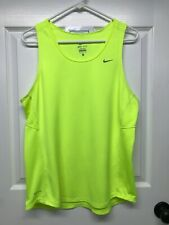 Nike DRI-FIT #613583 Men's Miler Singlet Running Tank Top: L, Volt Yellow