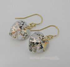 Heart Earrings made with 14mm Swarovski Rose Patina & 14 Kt GF Gold Filled