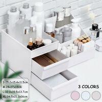 Plastic Cosmetic Organizer Makeup Case Holder Drawers Jewelry Storage Box !
