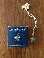 Longaberger 2001 Inaugural Tie On # 73903 Rare Find Last One