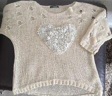 Ladies knit jumper by Quiz  Beige size s/m