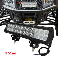 "Front Bumper Can-Am Maverick X3 For 12"" inch LED Work Light Truck 4x4 Van Camper"