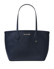 NWT $198 Michael Kors Admiral Pale Blue Saffiano Leather Saige Reversible Tote