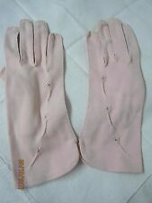 Vintage Dawnelle Philippines double woven pink Nylon Ladies Gloves Size 6M