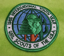 Vintage 1985 International Youth Year Girl Scouts of the USA Embroidered Patch