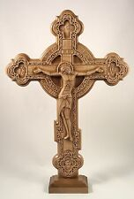 Orthodox wooden carved cross on the stand Beech Large 19.69""