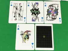 Vintage Non Standard HISTORIC FIGURES Animals FLOWERS Playing Cards GOLD CROWN
