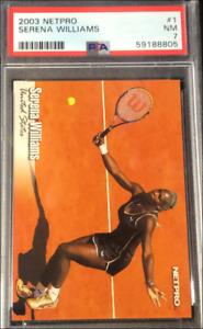 2003 Netpro Tennis Serena Williams ROOKIE RC #1 PSA 7 NRMT
