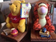 Winnie The Pooh & Tigger Bookend Buddies Book Ends, Books & Plush Figures NEW